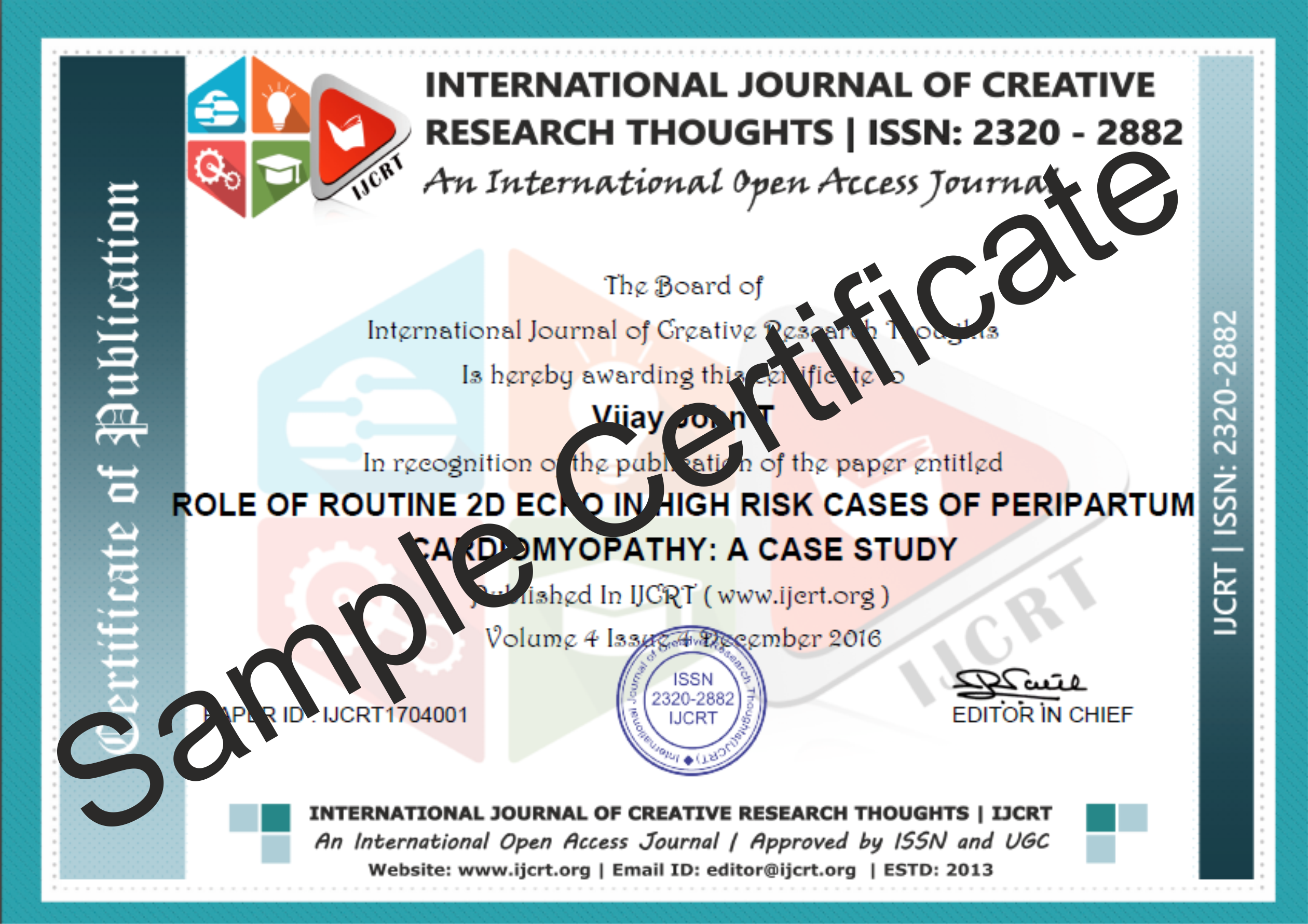 006 How To Publish Research Paper In International Journal Free Pdf Sample Certificate Unusual Full