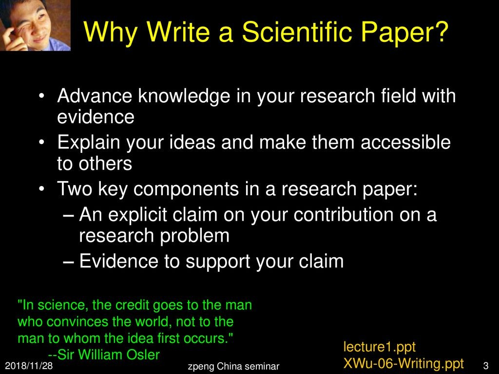 006 How To Read Research Paper Ppt Striking A Scientific Large