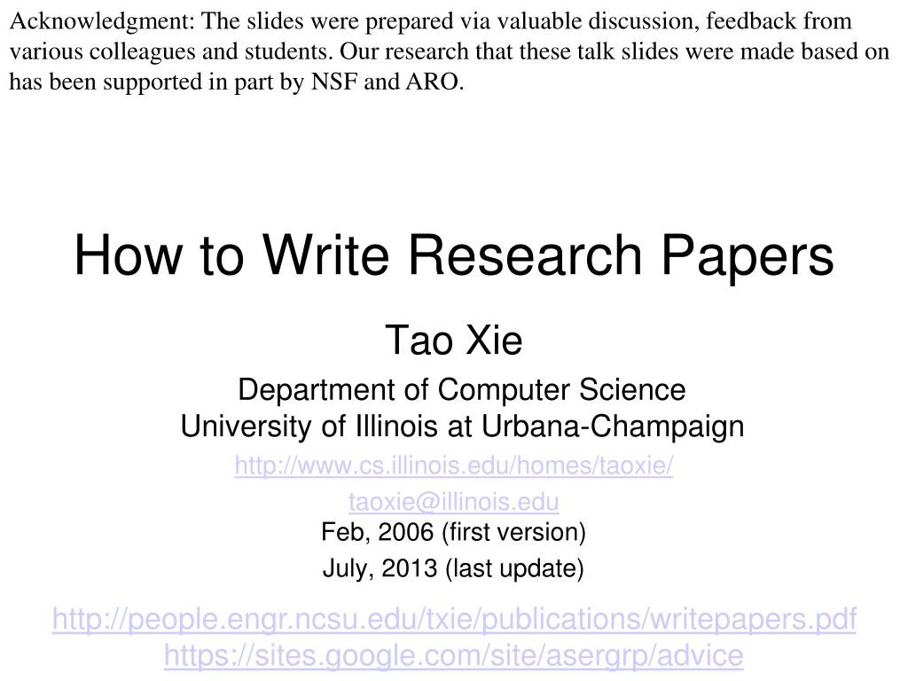 006 How To Write Research Papers L Paper In Computer Science Wondrous Ppt Large
