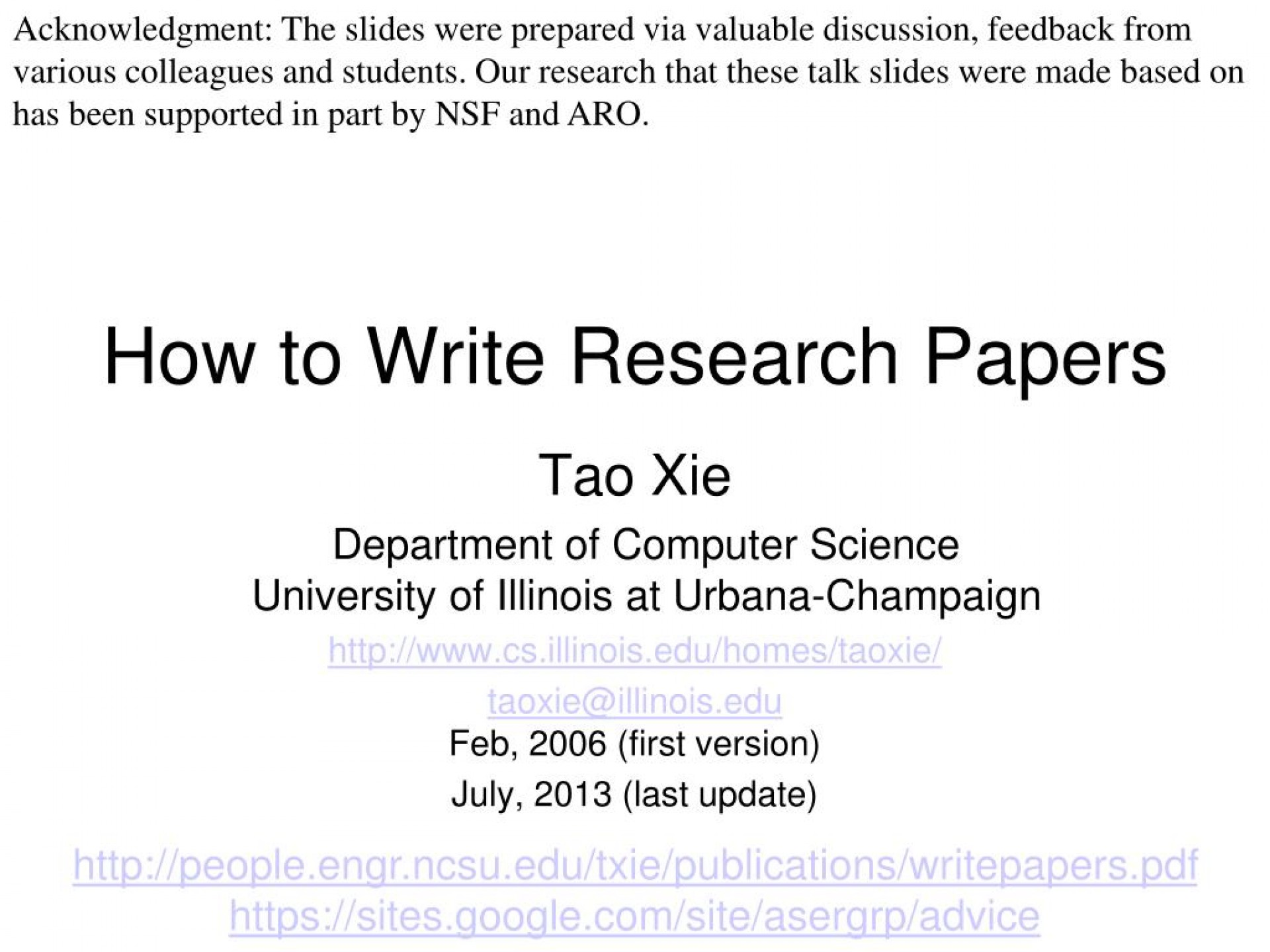 006 How To Write Research Papers L Paper In Computer Science Wondrous Ppt 1920