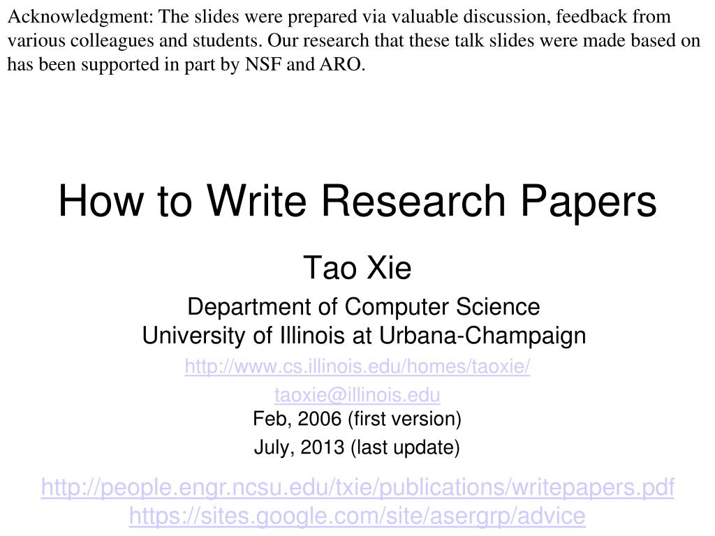 006 How To Write Research Papers L Paper In Computer Science Wondrous Ppt Full