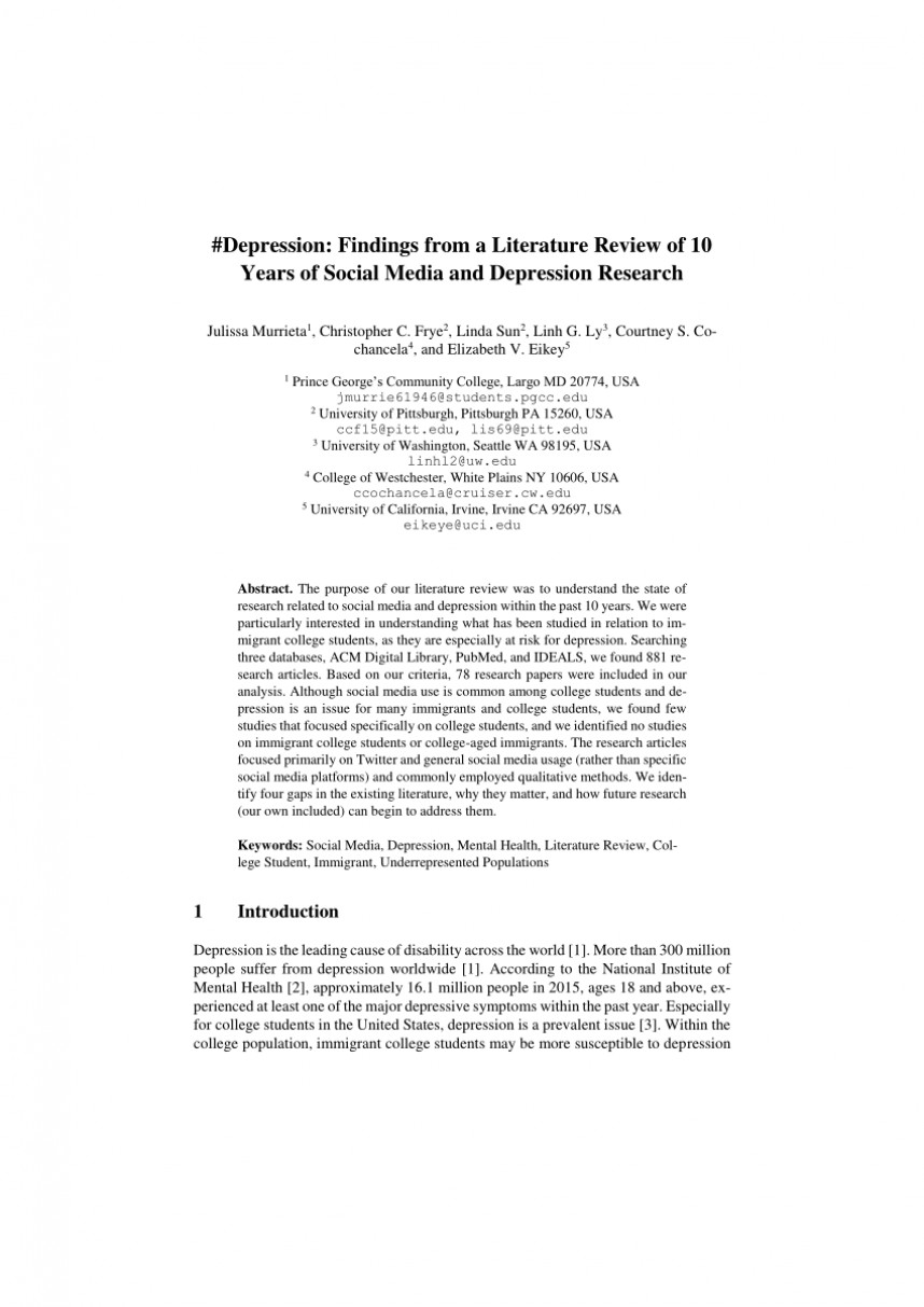 006 Largepreview Depression Research Paper Review Of Related Marvelous Literature