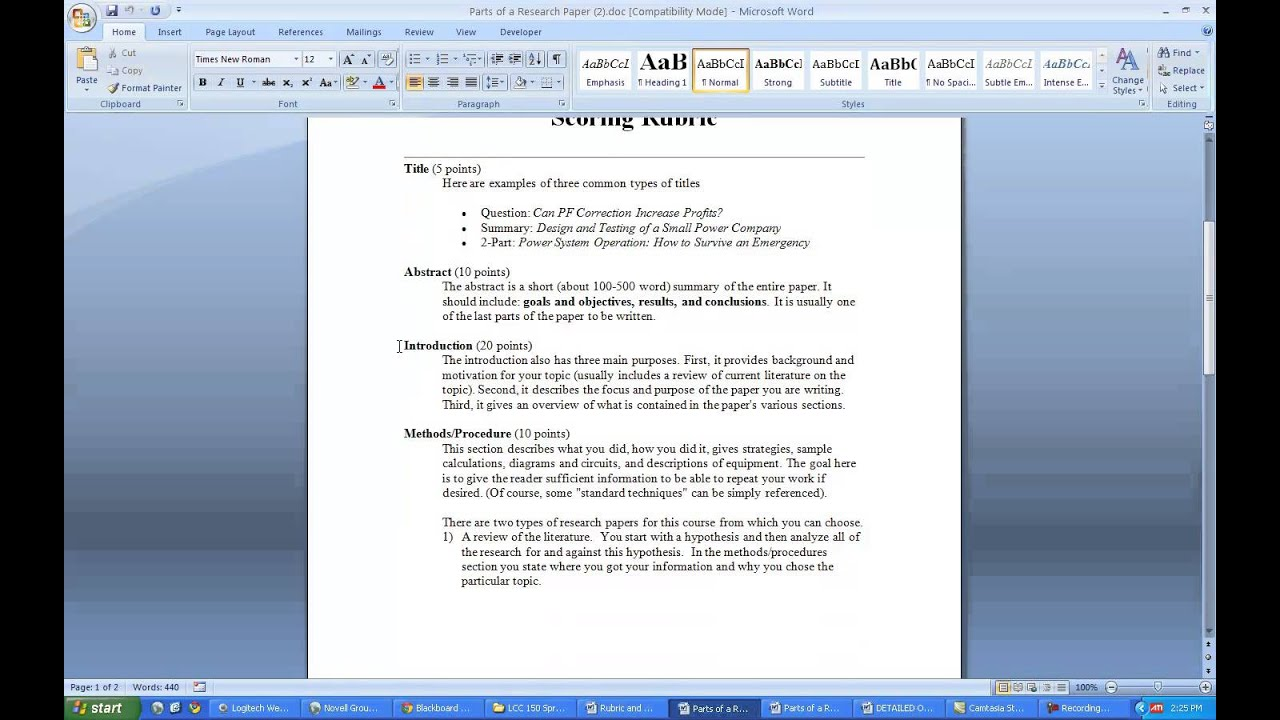 006 Literature Review Research Paper Singular Template Structure Format Full