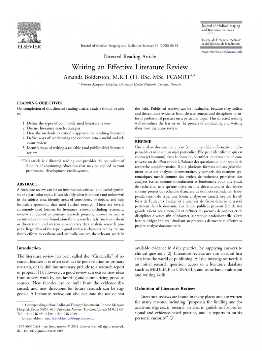 006 Literature Review Vs Research Paper Awesome Writing A Step-by-step Approach Example Nursing Based