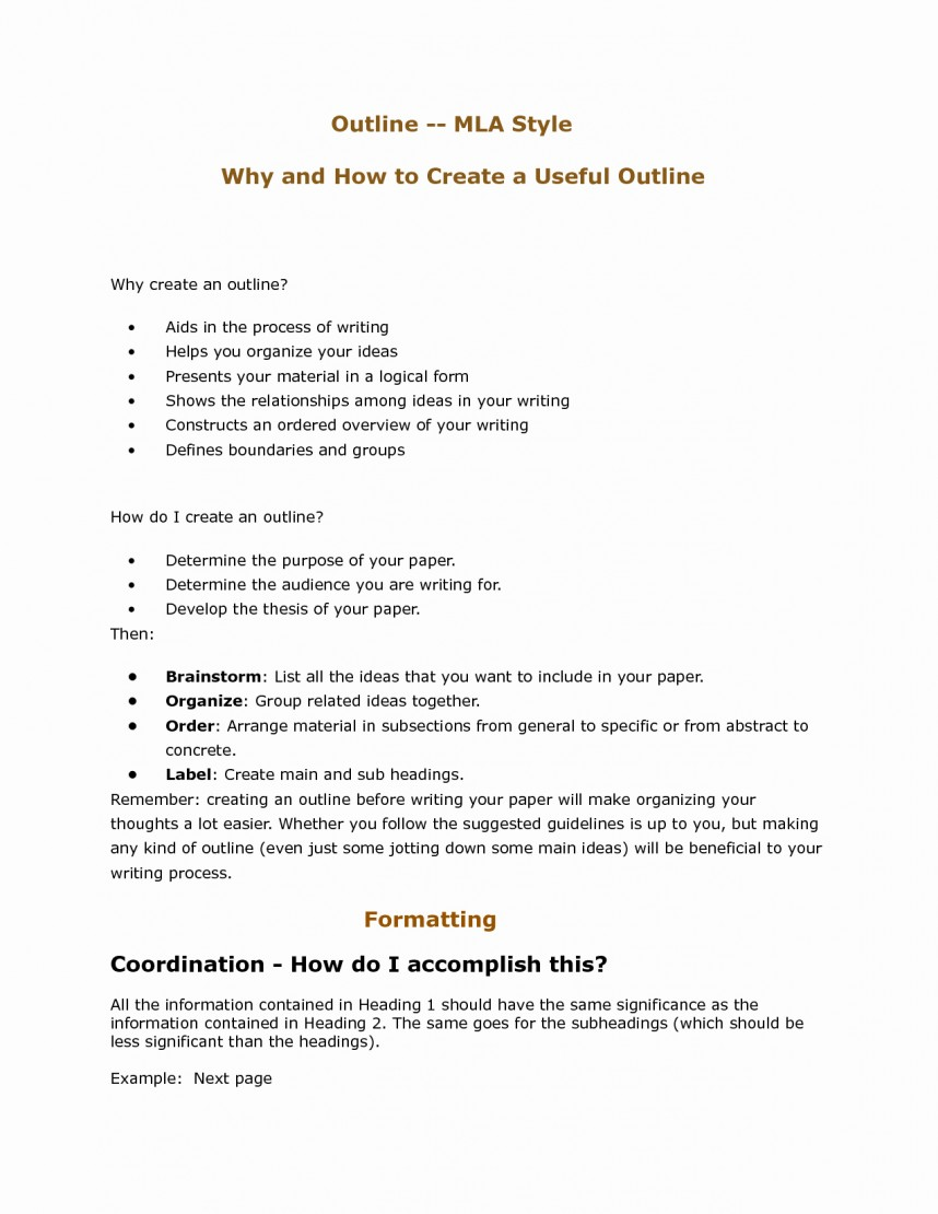 006 Mla Style Outline For Research Paper Format Papers Unique Best S Of