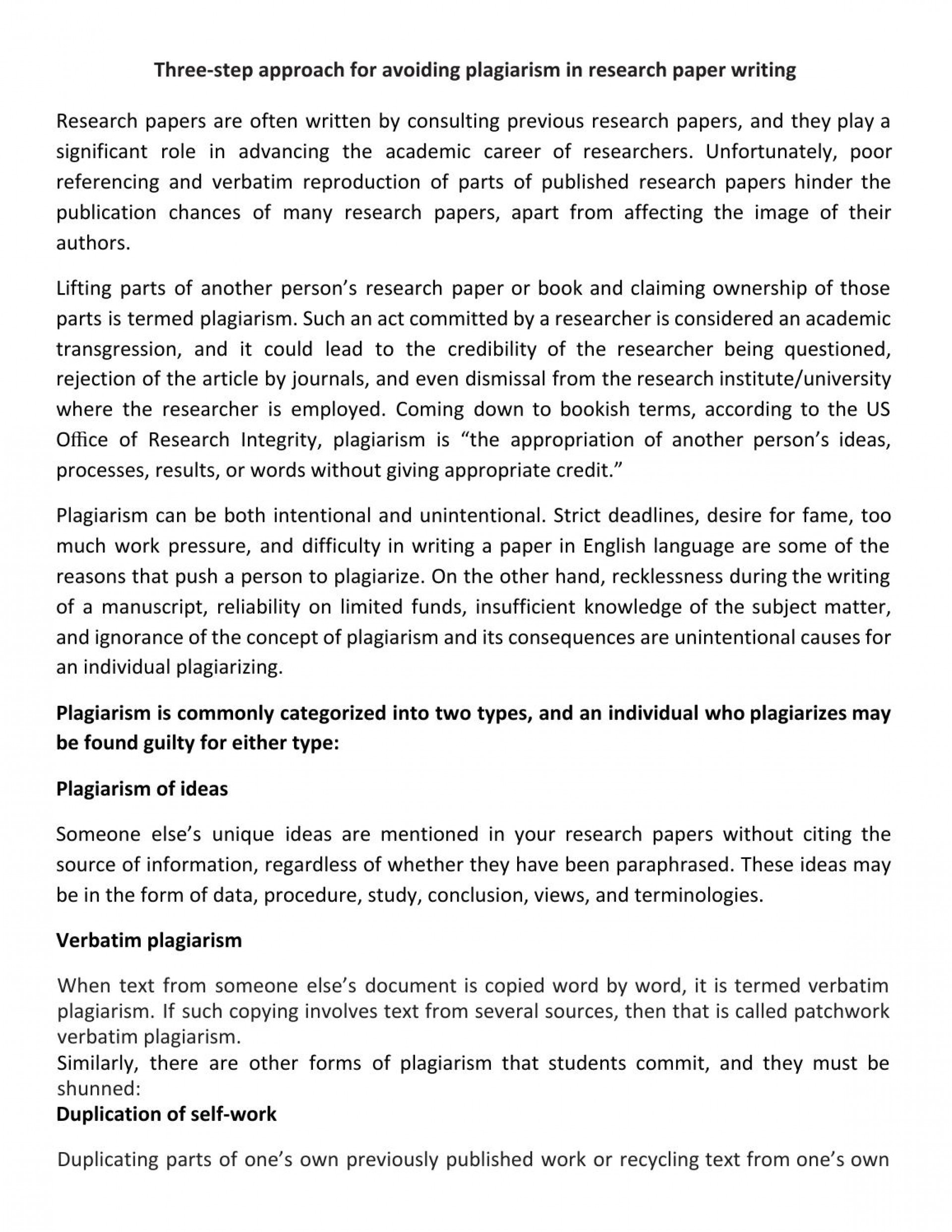 006 Page 1 How Do I Write Research Paper Without Wondrous A Plagiarizing You To Avoid Plagiarism 1920
