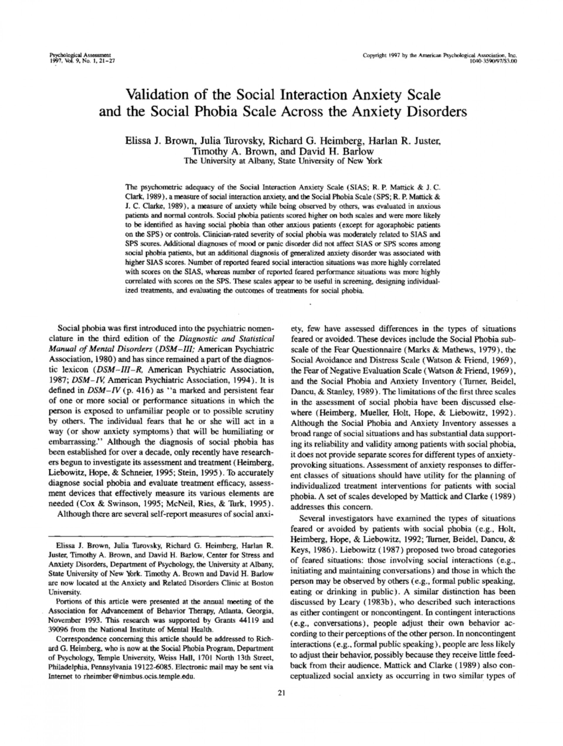 006 Psychology Research Paper On Social Anxiety Disorder Staggering 1920