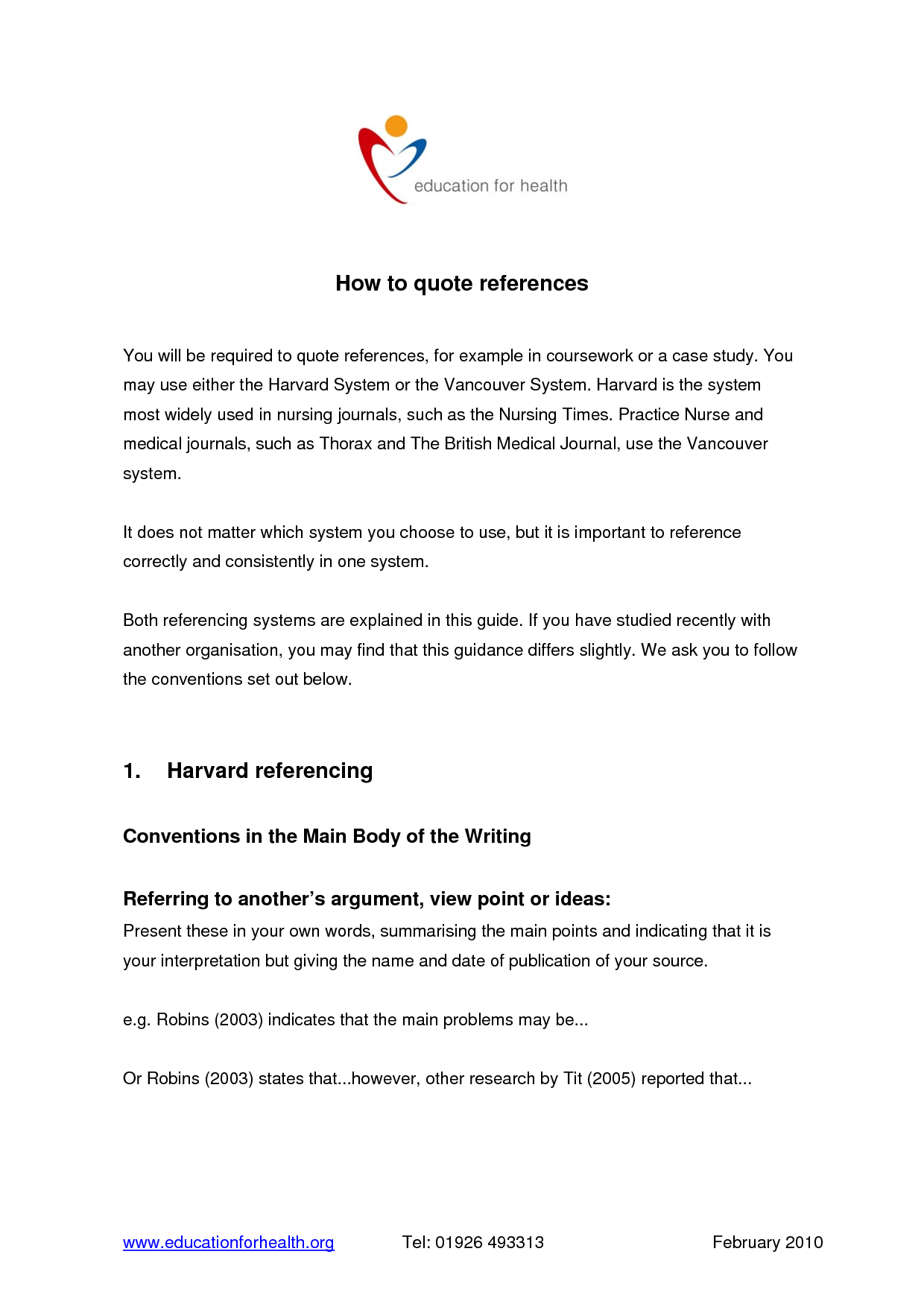 006 Research Paper Appendices Example In Harvard Style Excellent Full