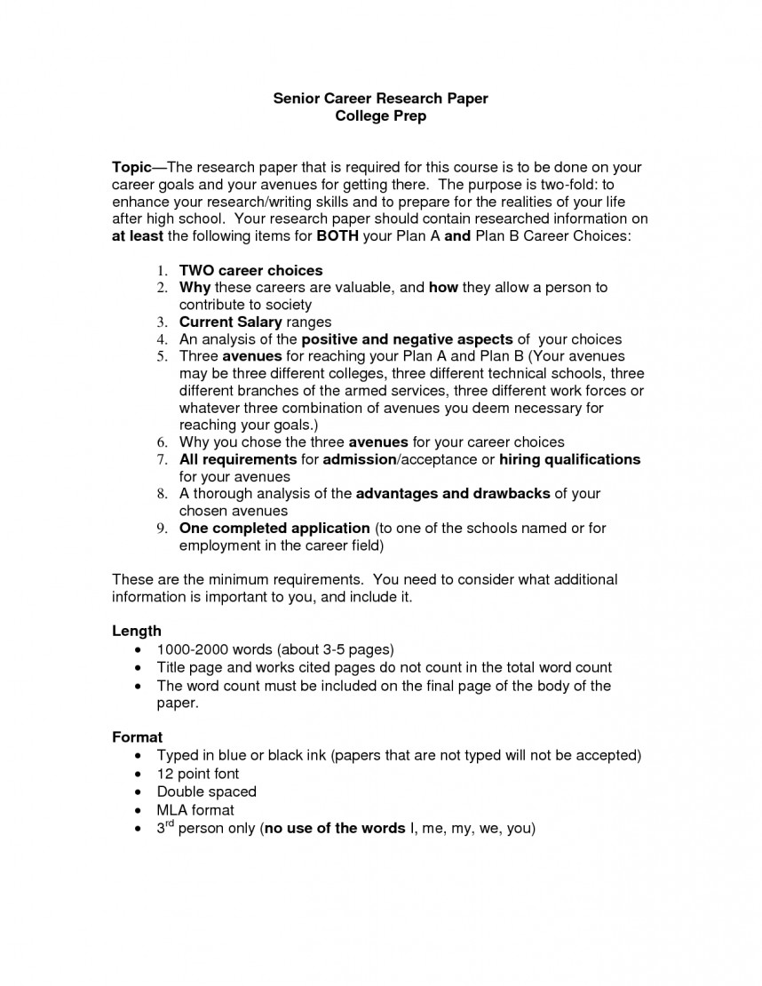 006 Research Paper Career Outline 477628 College Fascinating Sample