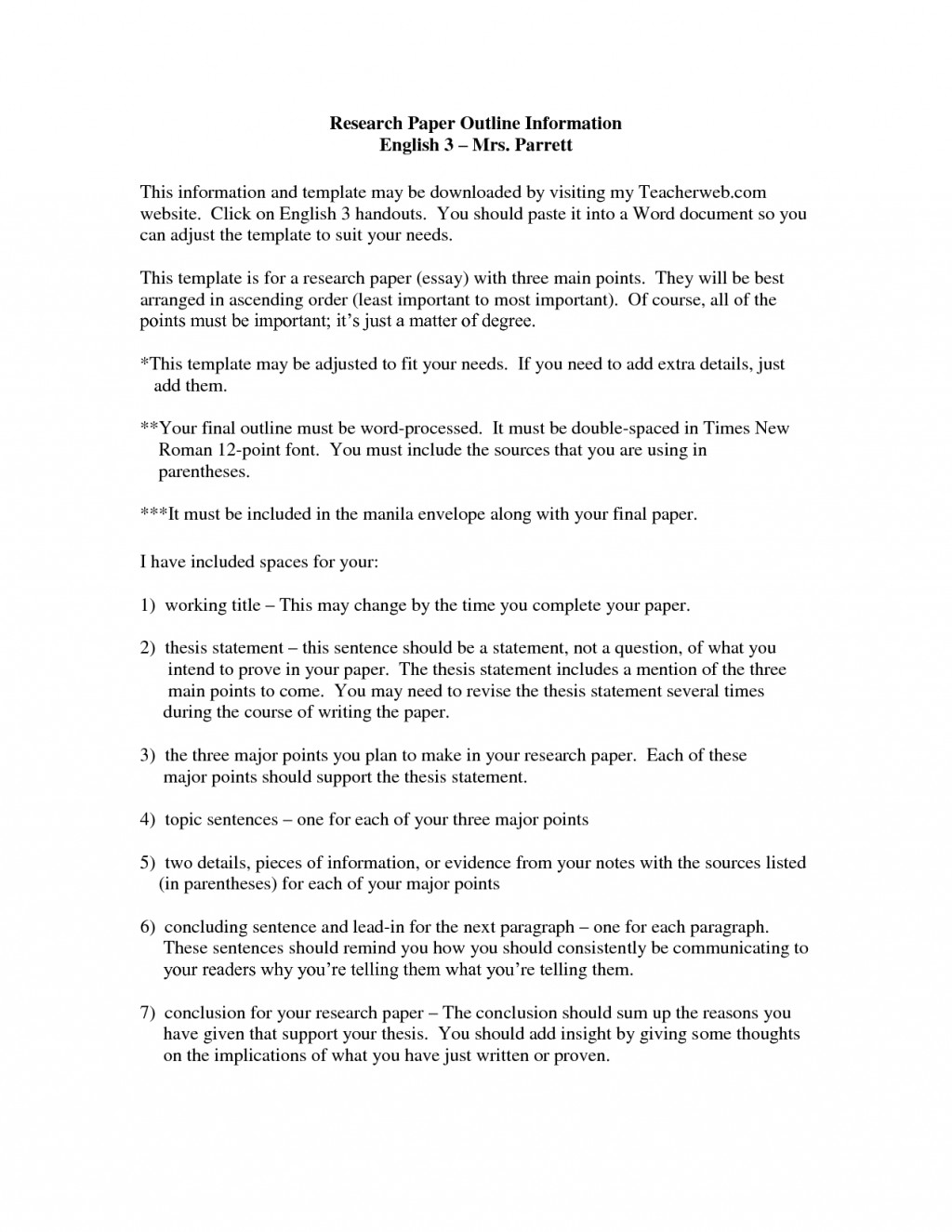 006 Research Paper Career Thesis Statement Examples Of Statements For Papers Template Stirring My Good Large