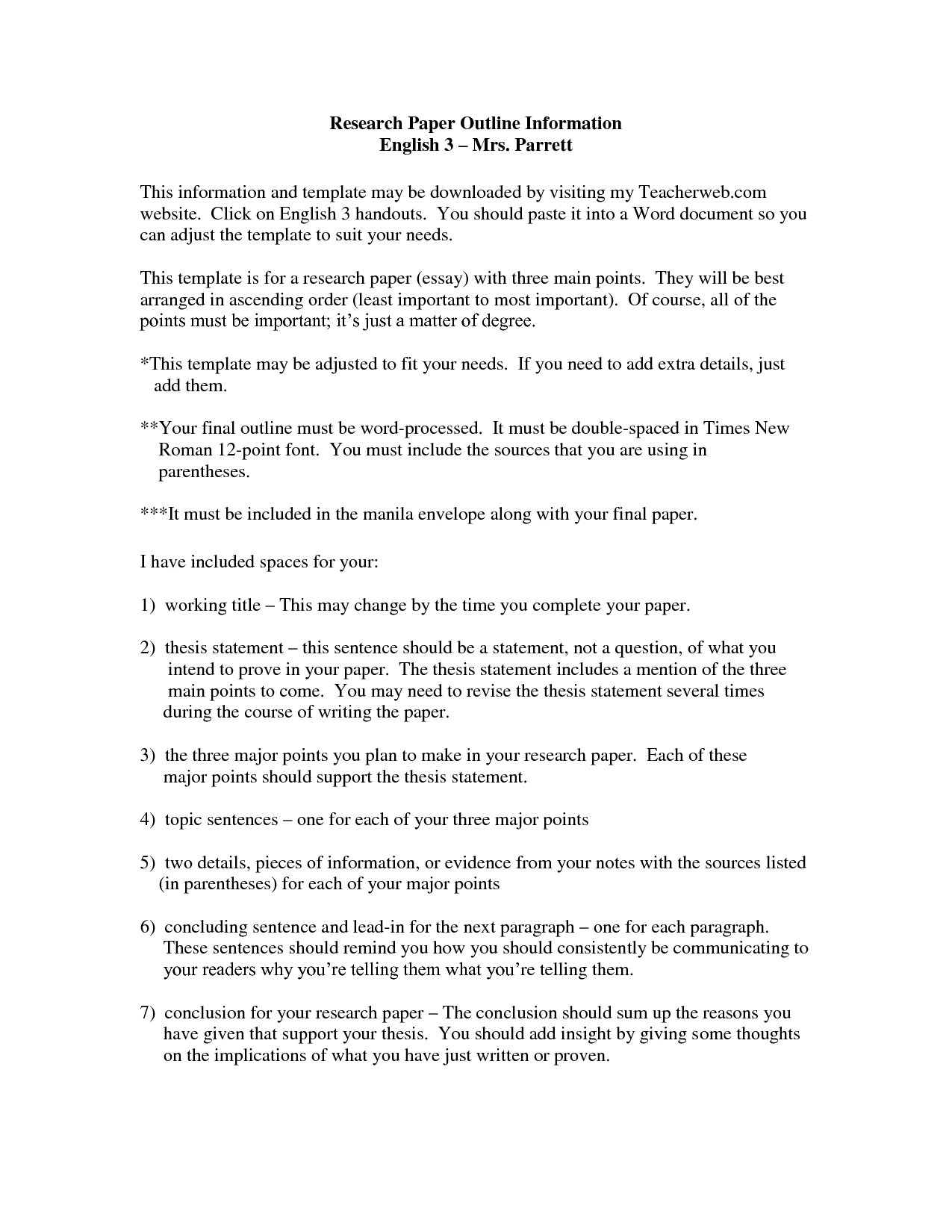 006 Research Paper Career Thesis Statement Examples Of Statements For Papers Template Stirring My Good Full