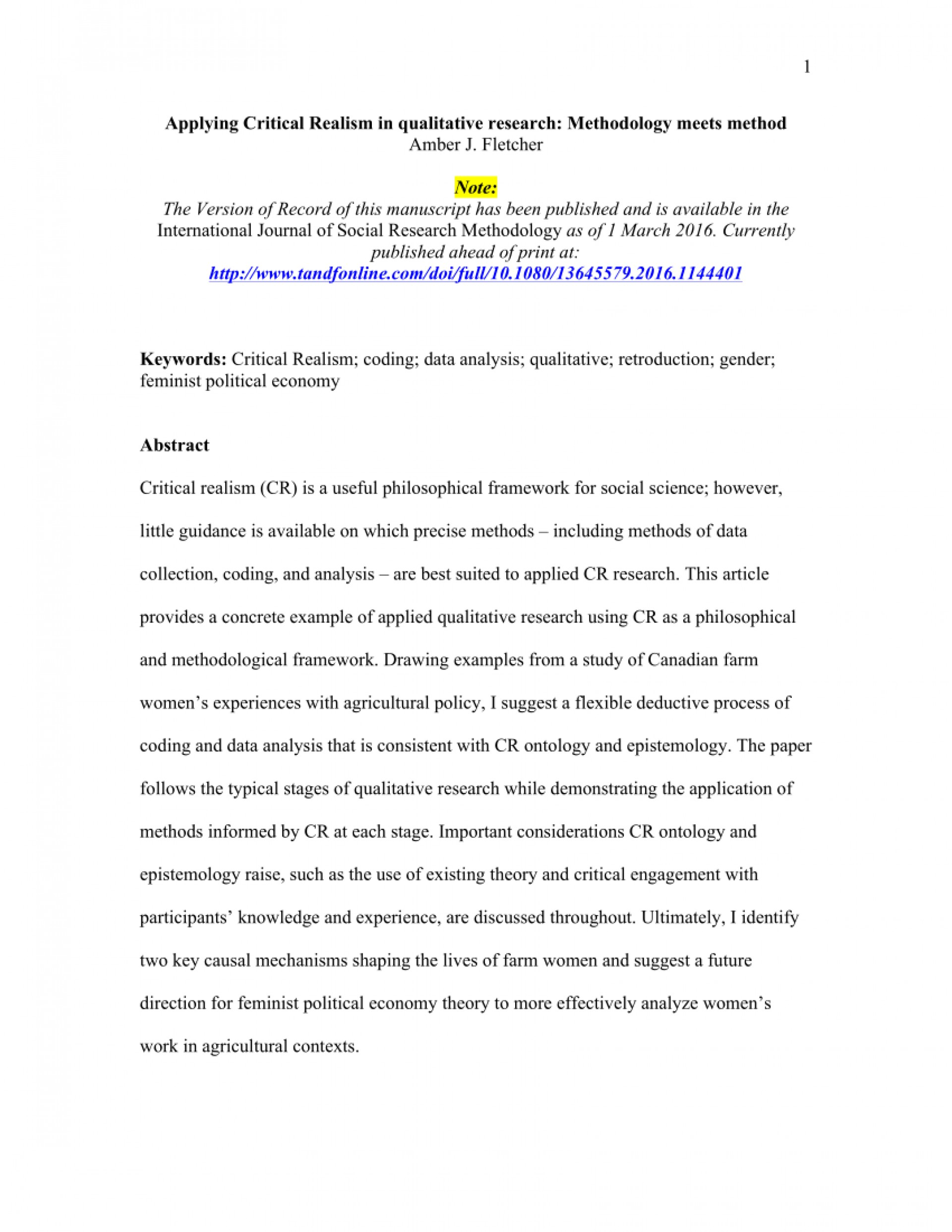 006 Research Paper Example Of Methodology Section Qualitative Dreaded Sample A 1920