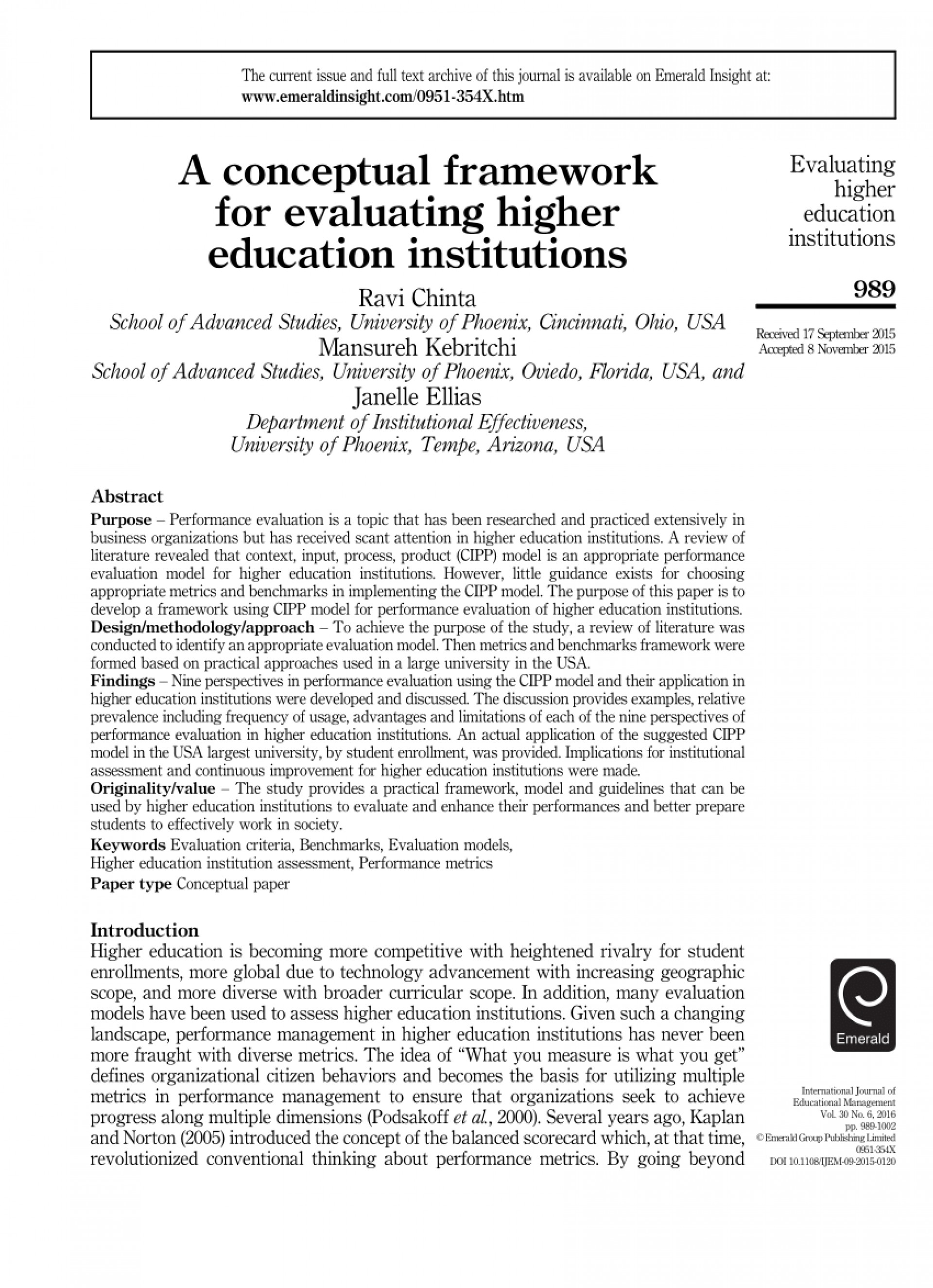 006 Research Paper Higher Education Amazing Pdf 1920