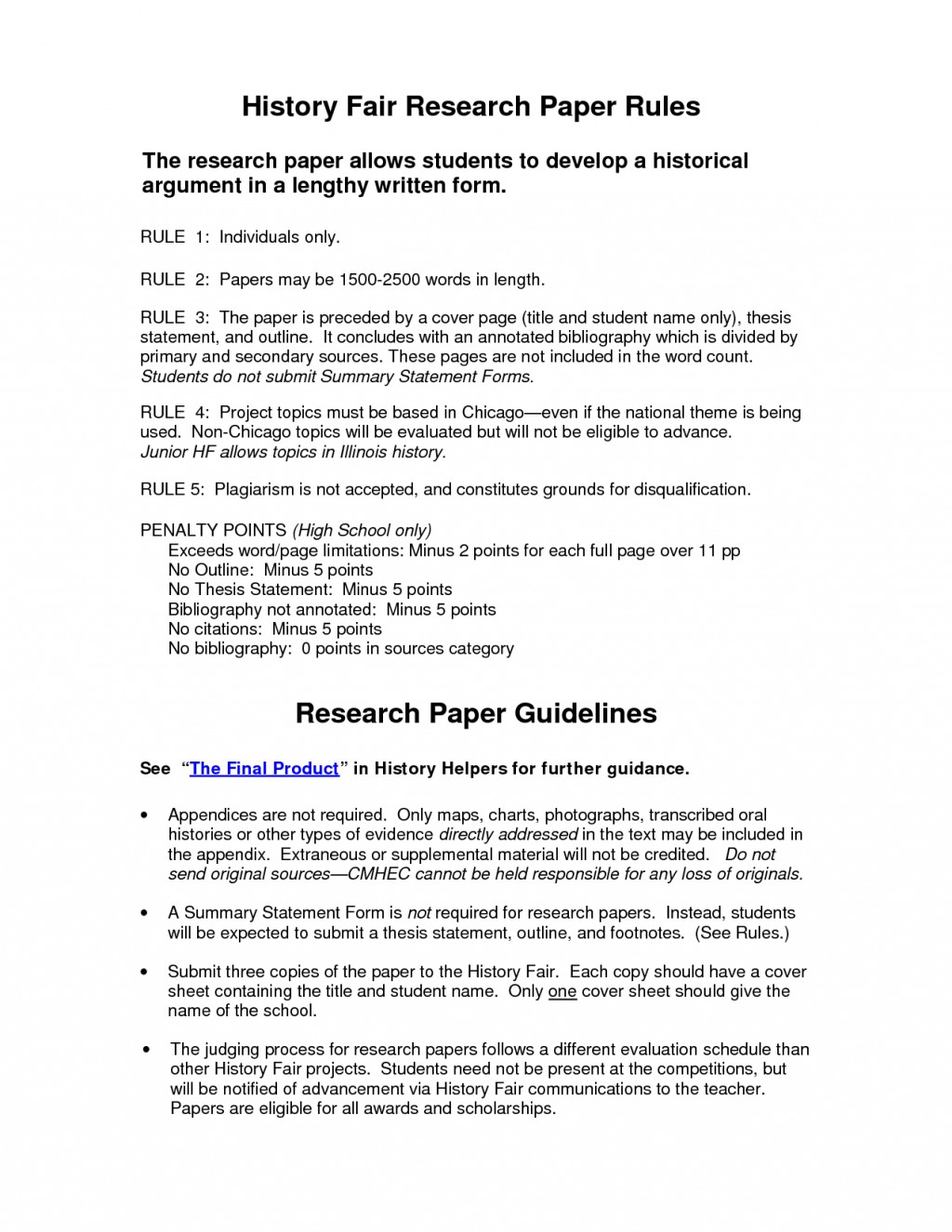 006 Research Paper History Fair Example 83109 Bibliography Striking Topics Large