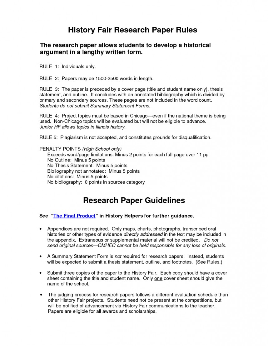 006 Research Paper History Fair Example 83109 Bibliography Striking Topics