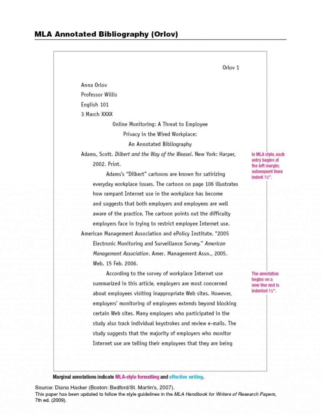 006 Research Paper How To Write Mla Format Example Template Dreaded A Large