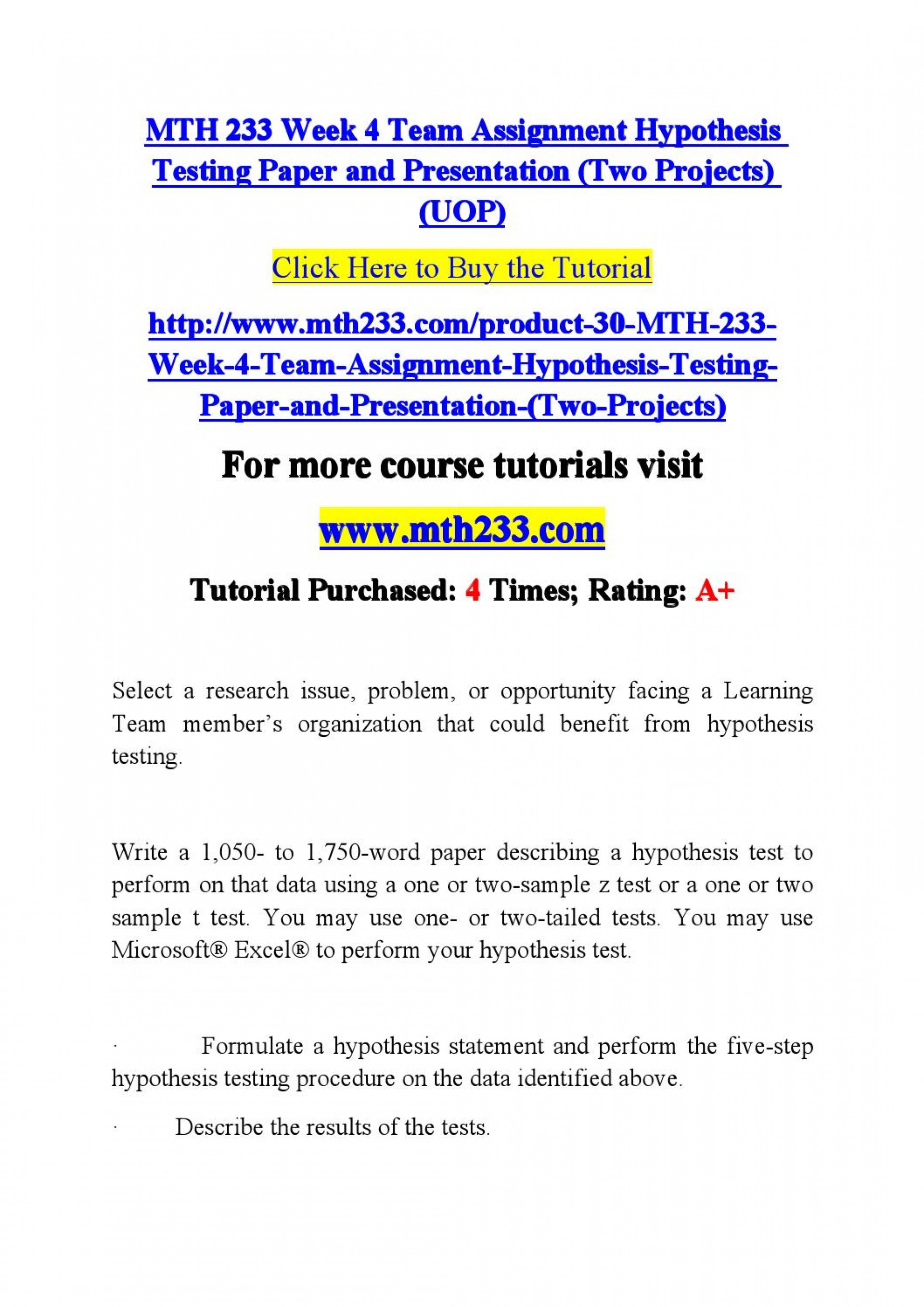 006 Research Paper Hypothesis Testing In Page 1 Awesome Pdf 1920