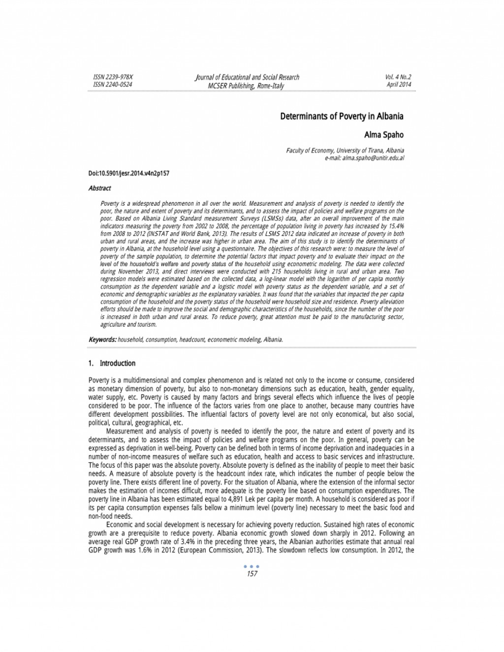 006 Research Paper Largepreview Poverty In The Philippines Remarkable Abstract Large