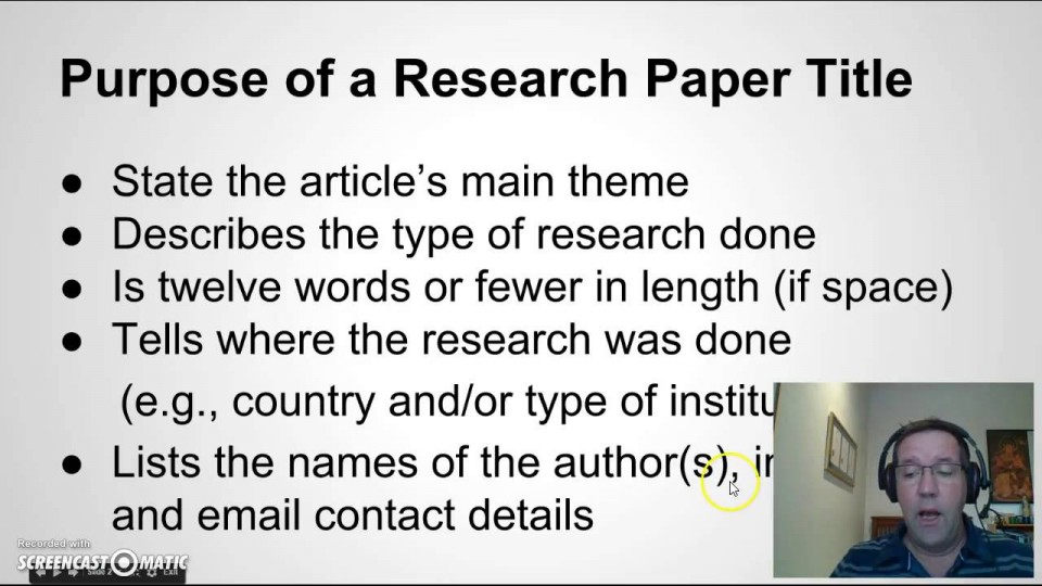 006 Research Paper Maxresdefault How To Write Good Remarkable A Youtube In Apa 960