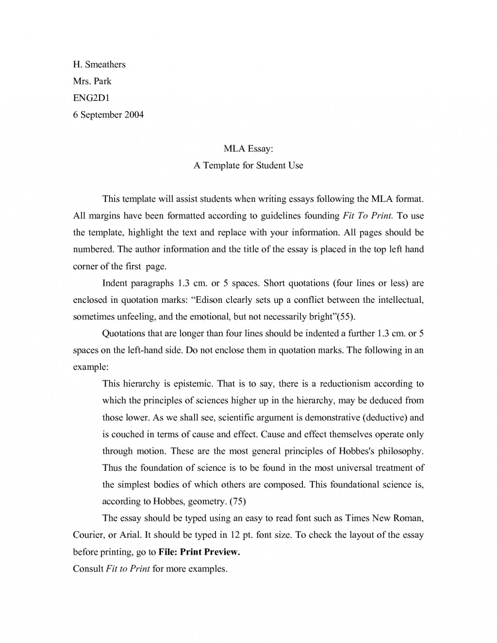006 Research Paper Mla Format Template Awesome Outline Example Large