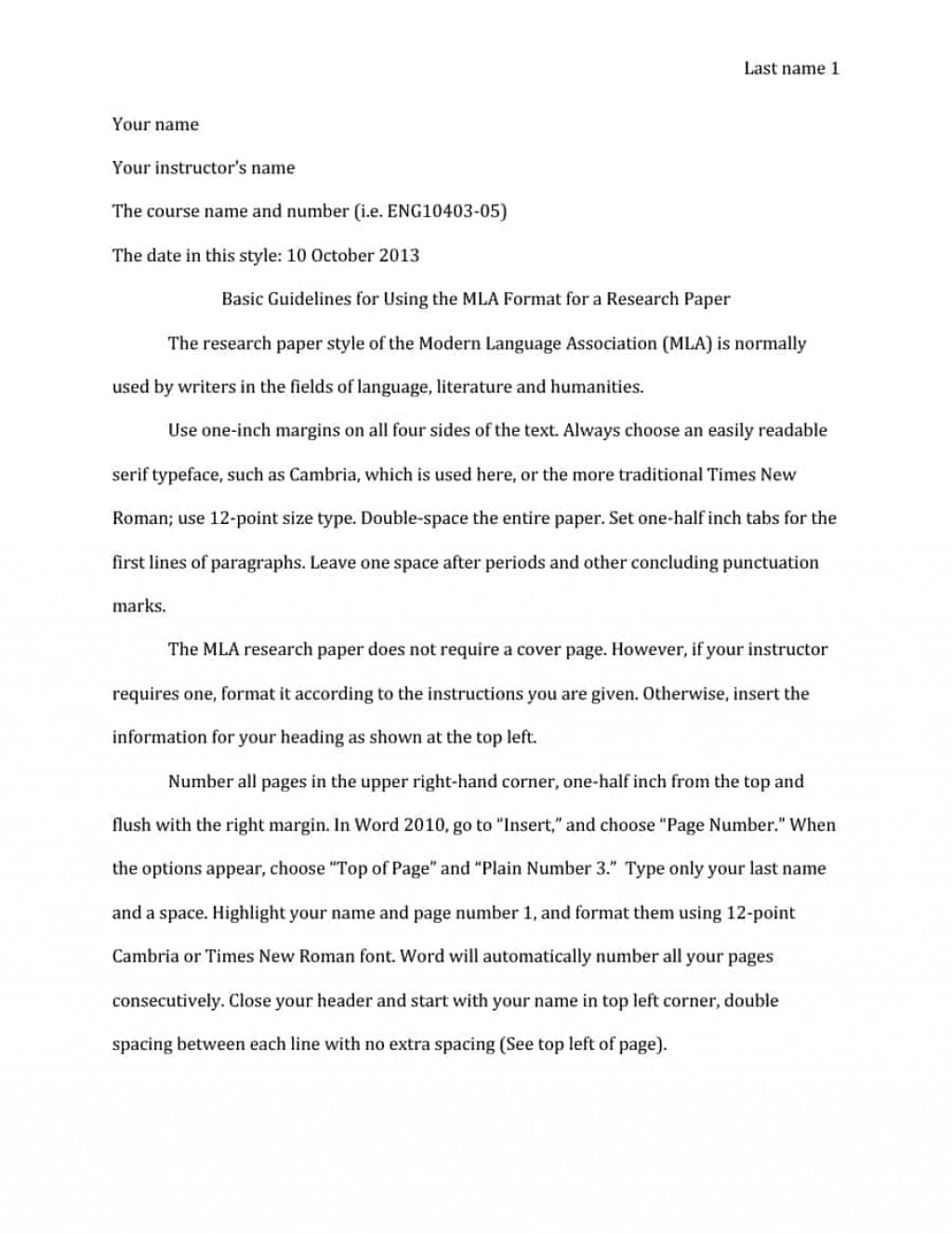 006 Research Paper Mla Format Template In Excellent Style Example Title Page Outline Large