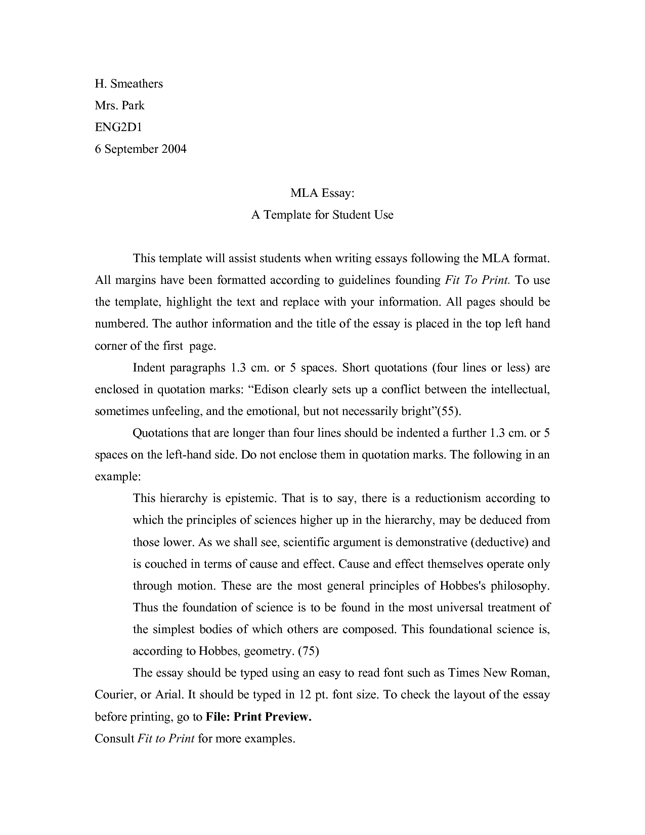006 Research Paper Mla Format Template Awesome Outline Example Full