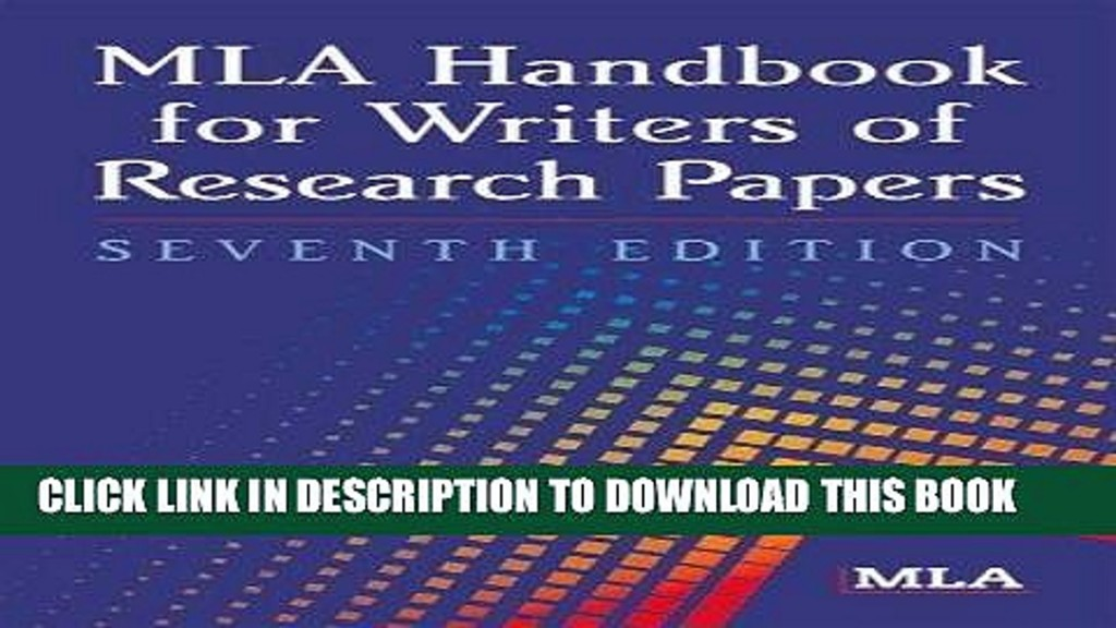 006 Research Paper Mla Handbook For Writing Papers X1080 Frightening Writers Of 8th Edition Pdf Free Download According To The Large