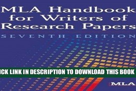 006 Research Paper Mla Handbook For Writing Papers X1080 Frightening Writers Of 8th Edition Pdf Free Download According To The