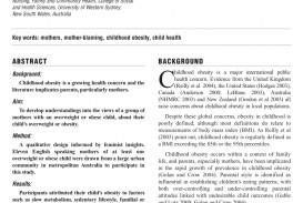 006 Research Paper Nursing Articles On Childhood Obesity Stirring