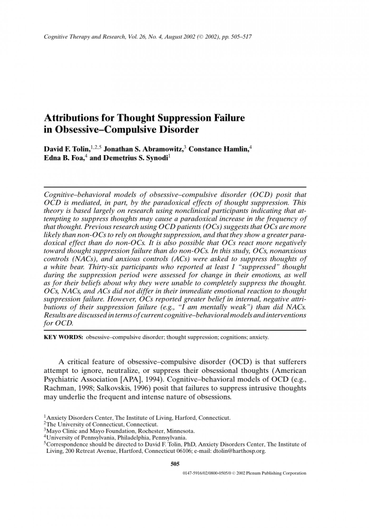 006 Research Paper On Obsessive Compulsive Disorder Apa Breathtaking Anxiety 1400