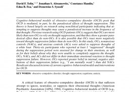 006 Research Paper On Obsessive Compulsive Disorder Apa Breathtaking Anxiety