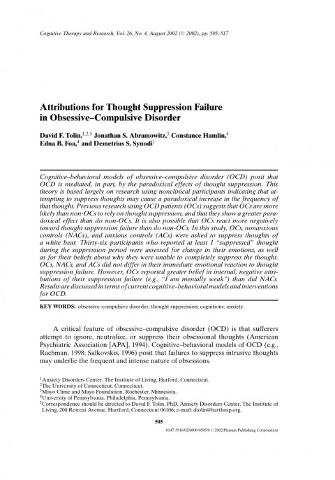 006 Research Paper On Obsessive Compulsive Disorder Apa Breathtaking Anxiety 480