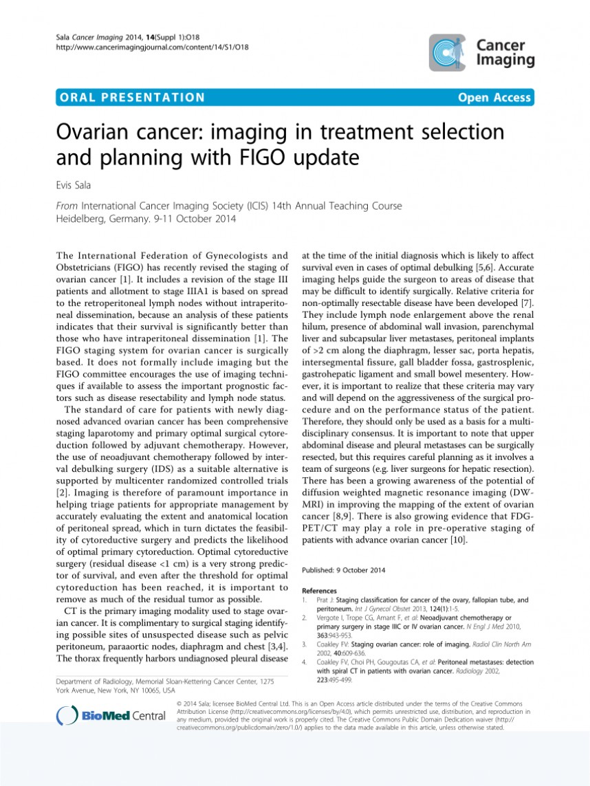 006 Research Paper Ovarian Cancer Topics Wondrous 868