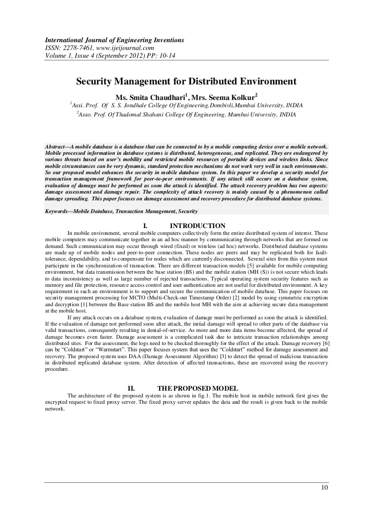 006 Research Paper Phpapp01 Thumbnail Mobile Database Marvelous Papers Full
