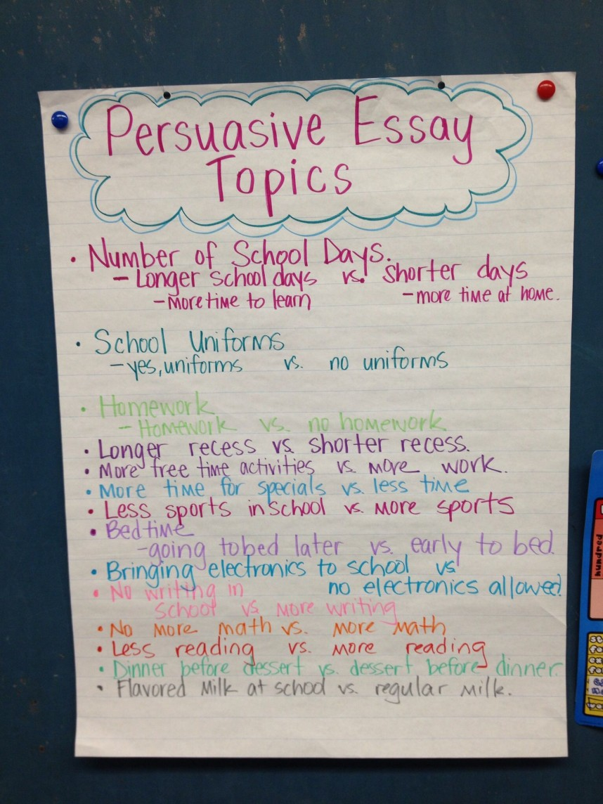 006 Research Paper Topics For Imposing Persuasive Controversial Papers A