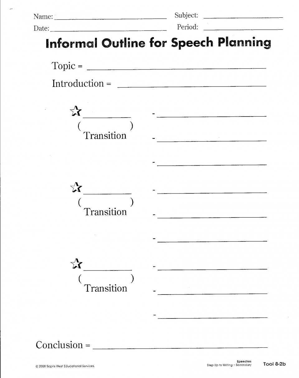 006 Research Paper Writer Services Suw Planning Your Speech With An Informal Outline Phenomenal 960