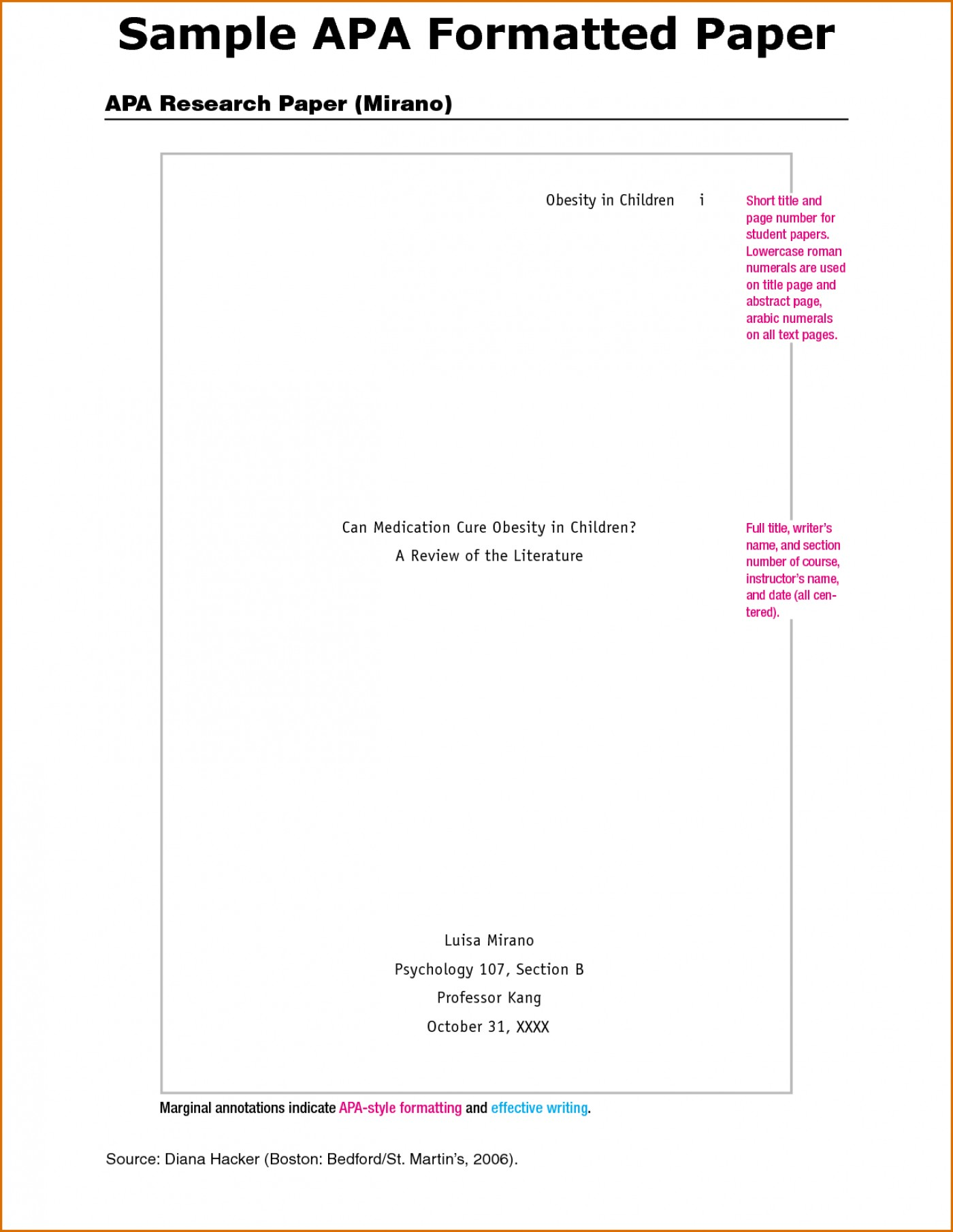 006 Sample Of An Apa Style Research Paper Template Wonderful A Example Apa-style 1400