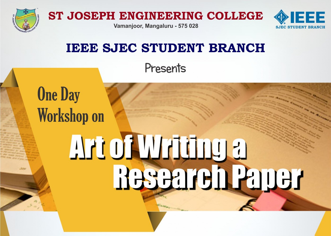 006 Workshop Banner Writing Of Research Fascinating Paper Book Pdf Synopsis Review 1400