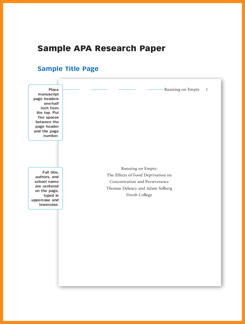 007 Apa Research Paperver Page Template Samples Of Papers Format Title Sample Dolap Magnetband Impressive Paper Cover Full