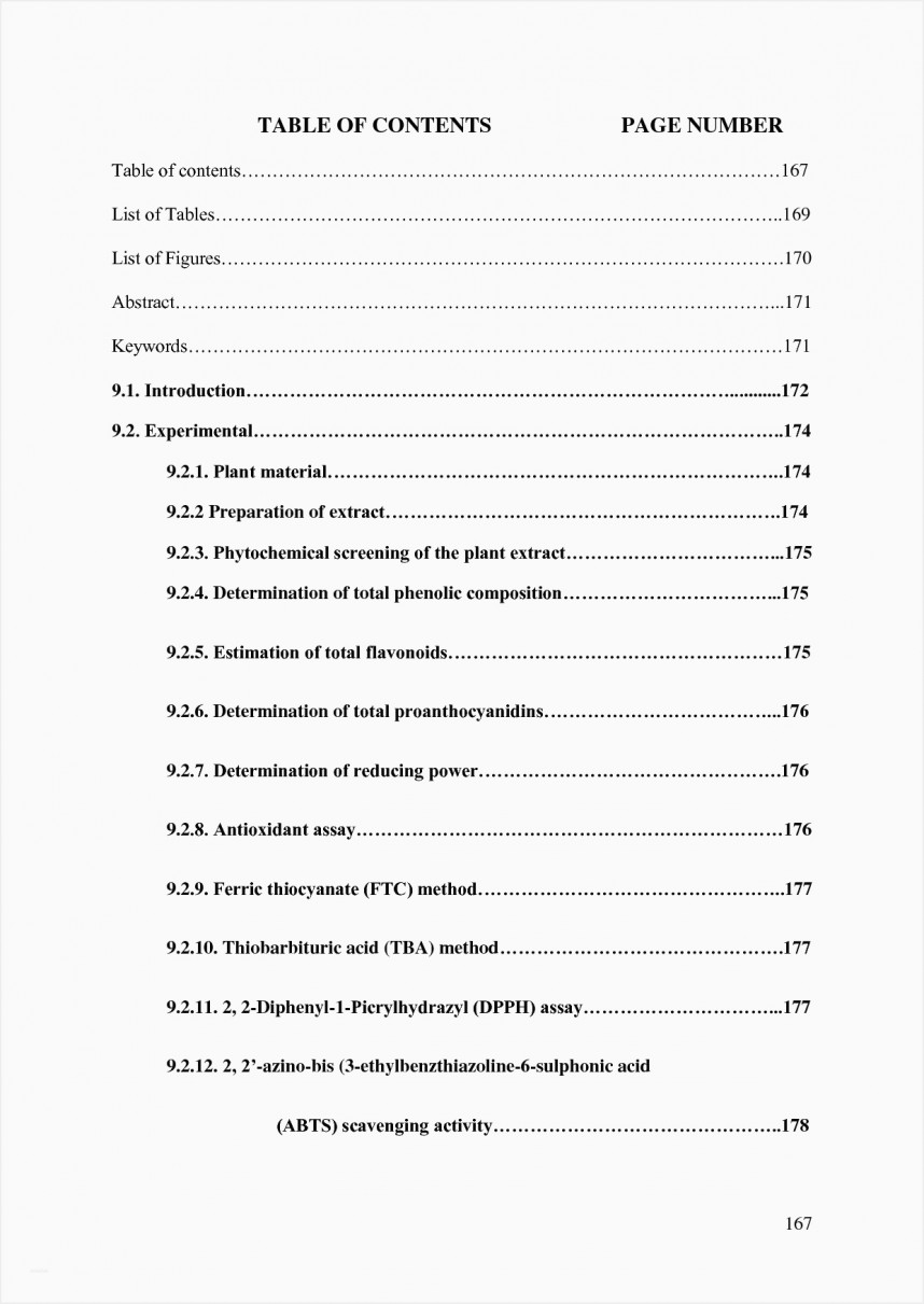 009 Table Of Contents For Research Paper Museumlegs