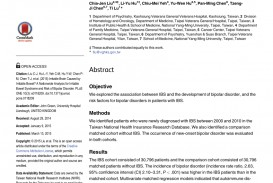 007 Bipolar Disorder Research Paper Abstract Incredible