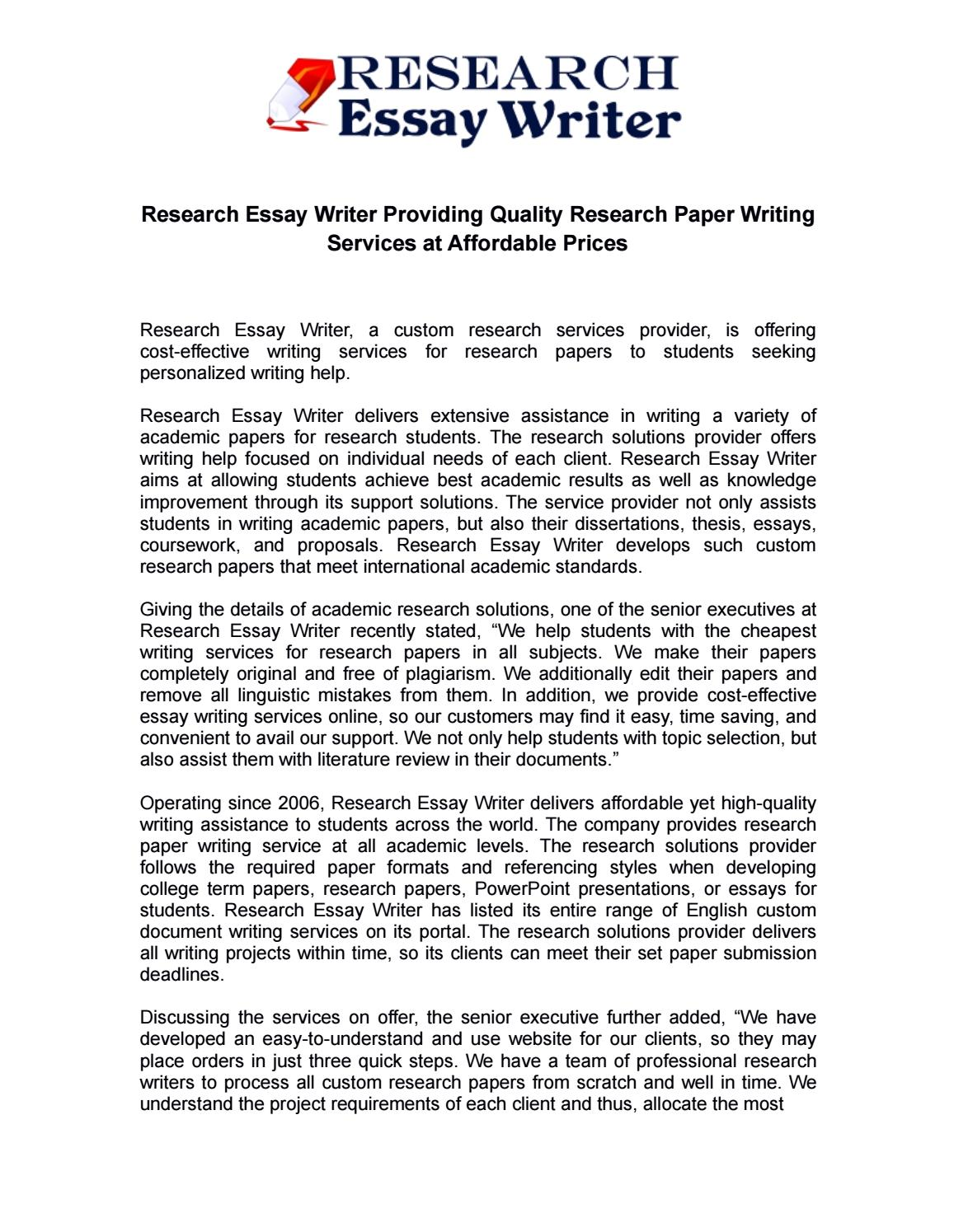 007 Cheapest Research Paper Writing Service Page 1 Wondrous Full