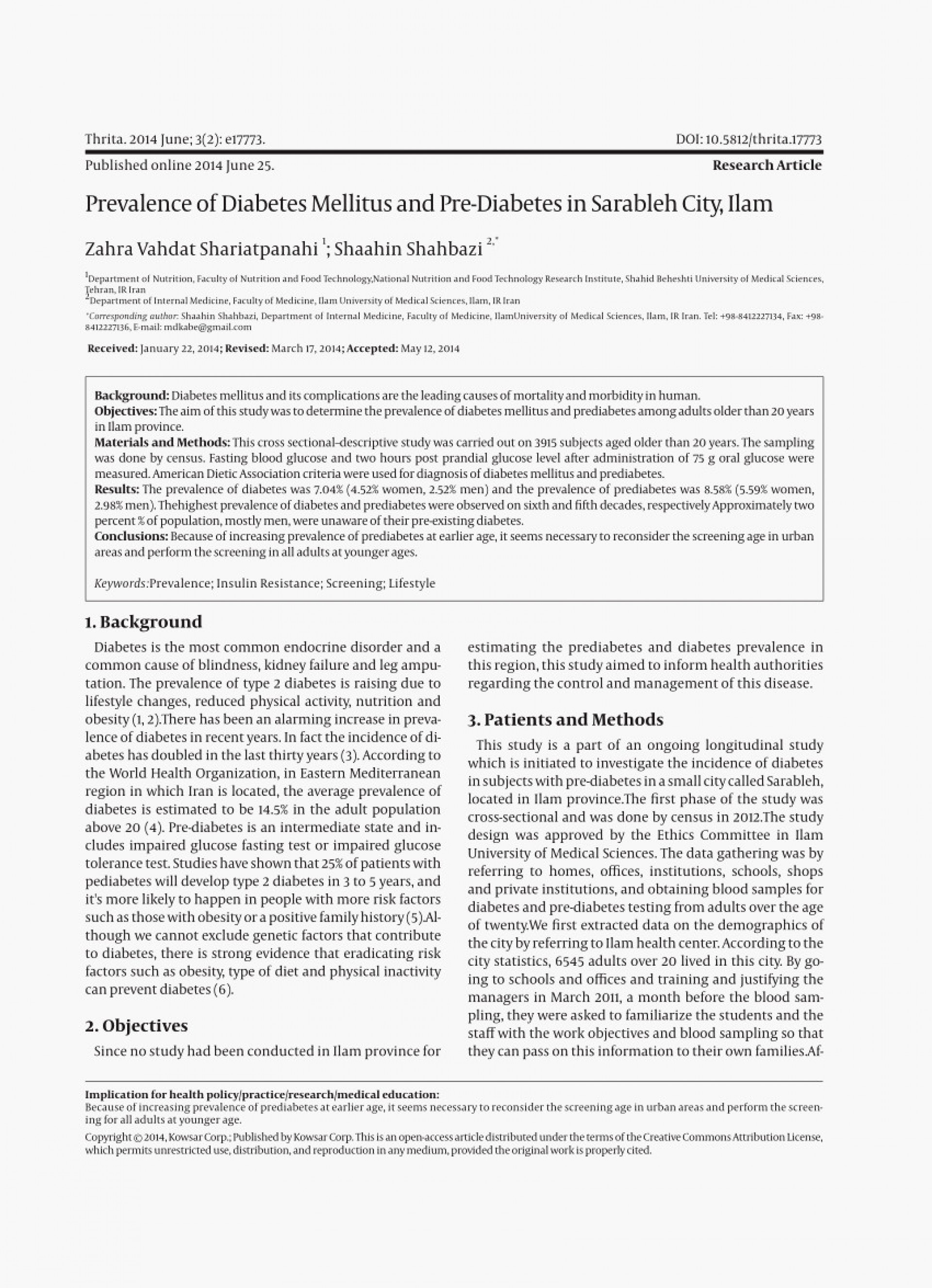 007 Chicago Style Research Paper Elegant Sample Diabetes About Pdf Iran Of Top Papers Mellitus 1920