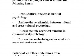 007 Cultural Psychology Topics For Research Paper Page 1 Sensational