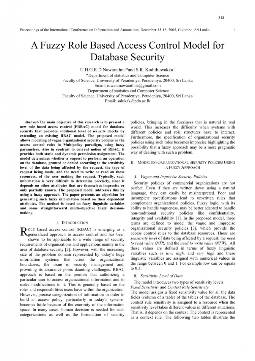 007 Database Security Research Paper Abstract Fascinating 868