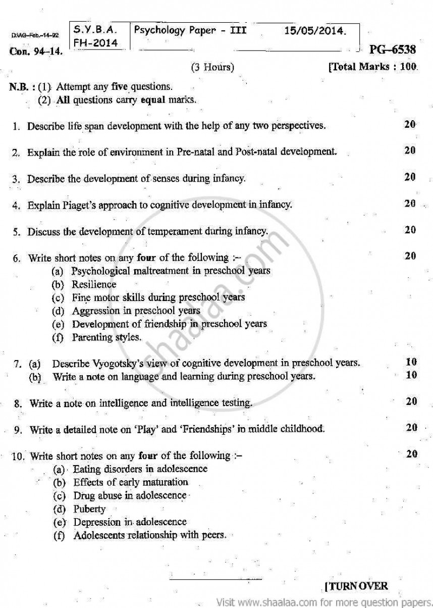 007 Developmental Psychology Essay Gender Bias Help Papers Atsl Ip Writing Service Topics Research Child Paper Rare Depression