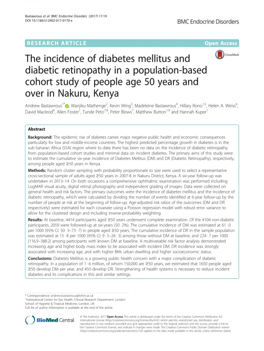 007 Diabetes Mellitus Research Paper Outline Rare