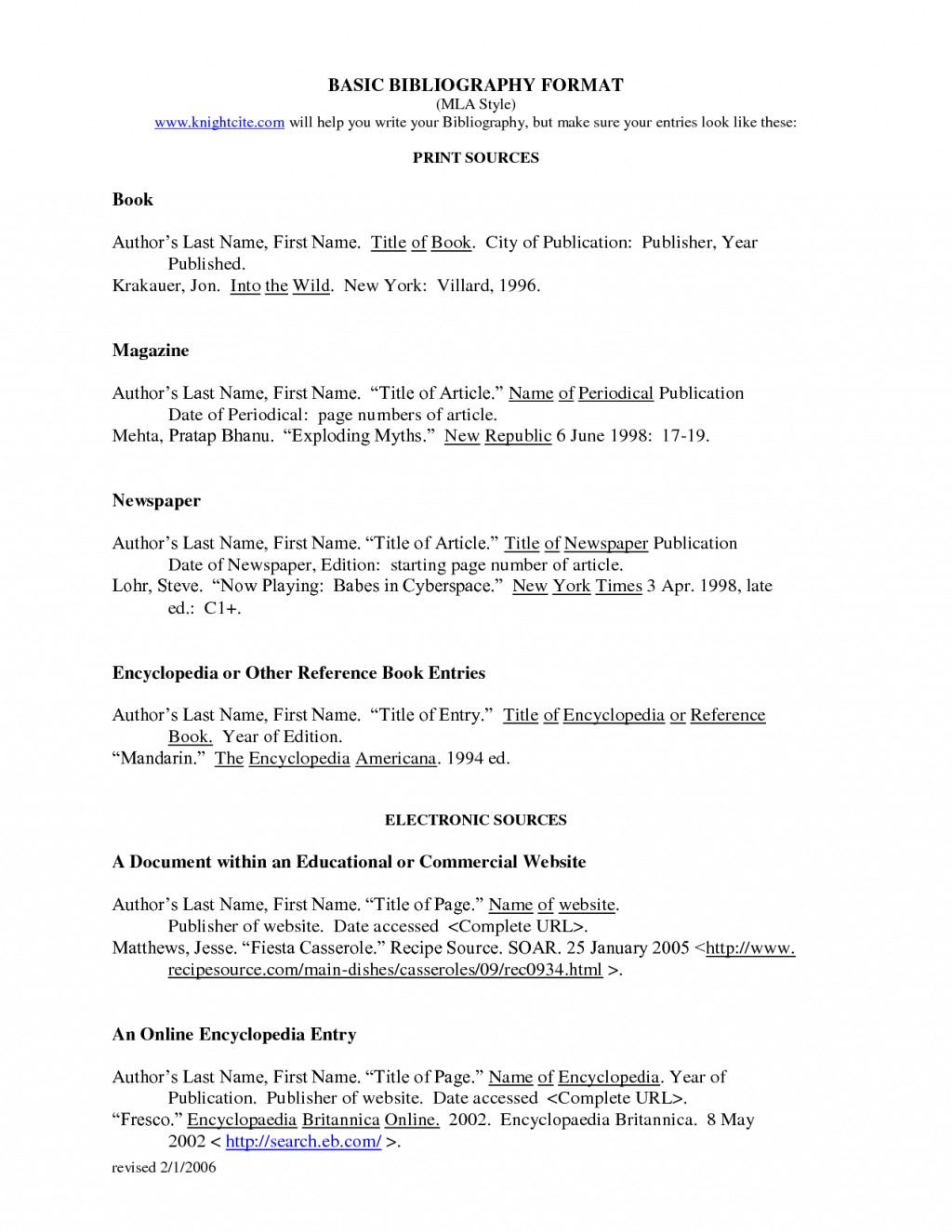 007 Do Works Cited Page Research Paper Unique Examples Mla Format Large