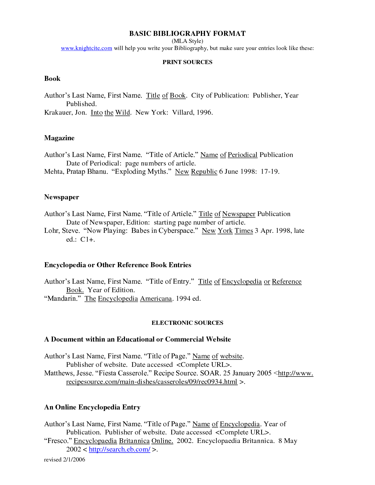007 Do Works Cited Page Research Paper Unique Examples Mla Format Full