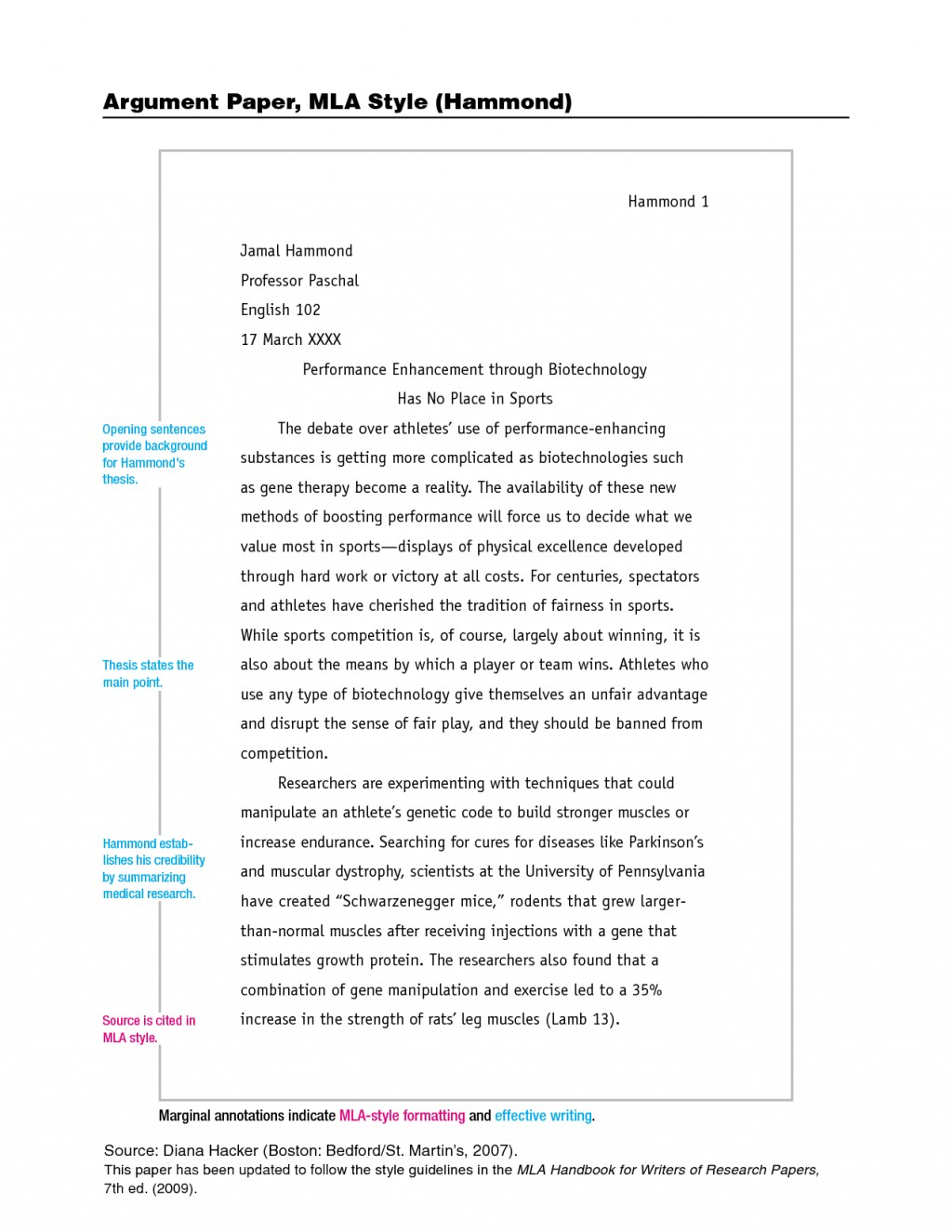007 Example Of Research Paper Using Mla Style Fascinating Writing A Outline Large